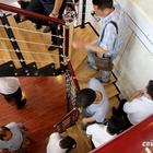 Лестница в доме изготовленном по технологии 3D печати. (фасад,архитектура,дизайн,интерьер,экстерьер,технологии,новинки,материалы,оборудование)