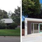 Передний фасад дома до и после реконструкции.