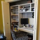 Дверь гармошка удобна тем что широко открывает офисное пространство. (хранение,гардероб,шкаф,комод,мебель,домашний офис,офис,мастерская)