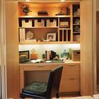 Кабинет в холле у входа закрывается как шкаф дверью гармошкой.