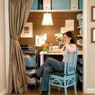 В нише можно расположить все офисные принадлежности. (хранение,гардероб,шкаф,комод,мебель,домашний офис,офис,мастерская)