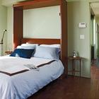 Откидная кровать позволяет освобождать место в доме, при необходимости. (пляжный,индустриальный,лофт,винтаж,стиль лофт,индустриальный стиль,современный,архитектура,дизайн,экстерьер,интерьер,дизайн интерьера,мебель,спальня,дизайн спальни,интерьер спальни)