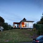 Фасад дачного дома (фасад,пляжный,современный,архитектура,дизайн,интерьер,экстерьер,маленький дом)