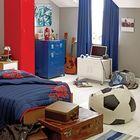 Детская в стиле лофт и элементами футбольной тематики. (детская,игровая,детская комната,детская спальня,дизайн детской,интерьер детской,индустриальный,лофт,винтаж,стиль лофт,индустриальный стиль,интерьер,дизайн интерьера,мебель)