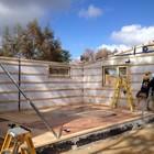 Монтаж пассивного дома на строительной площадке