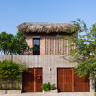 Фасад дома выглядит современно. (фасад,тропики,архитектура,дизайн,интерьер,экстерьер)