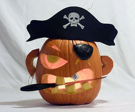 Тыква - пират.
